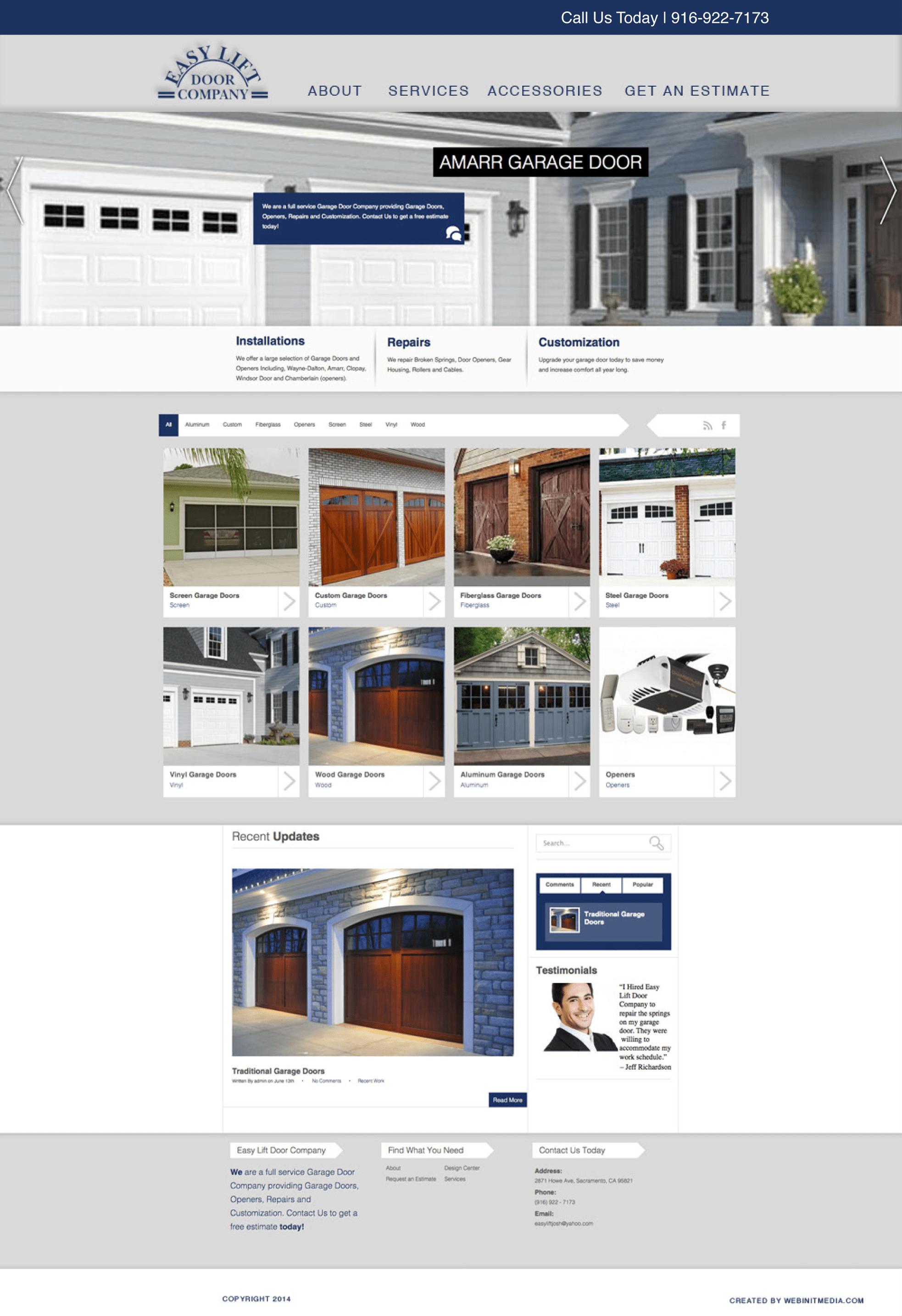 New Website Design  sc 1 st  Webinet Media & Easy Lift Door Company - Webinet Media